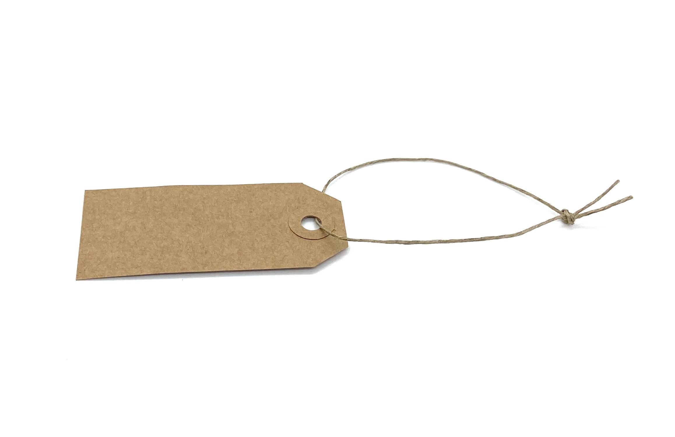 10 Kraftpapieranhänger mit Leinenschnur