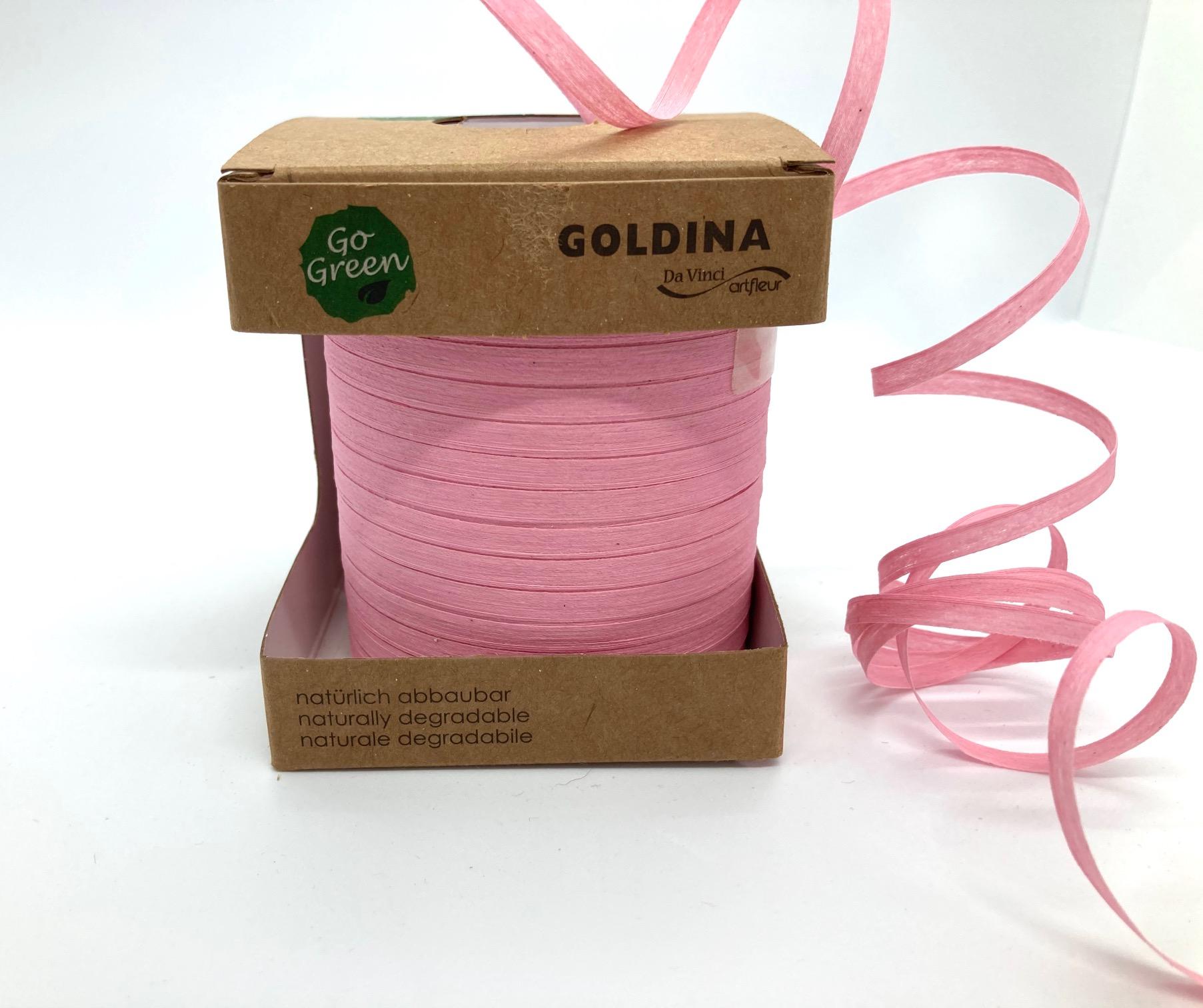 Ringelband Rosa, 100 Meter, 100% Baumwolle