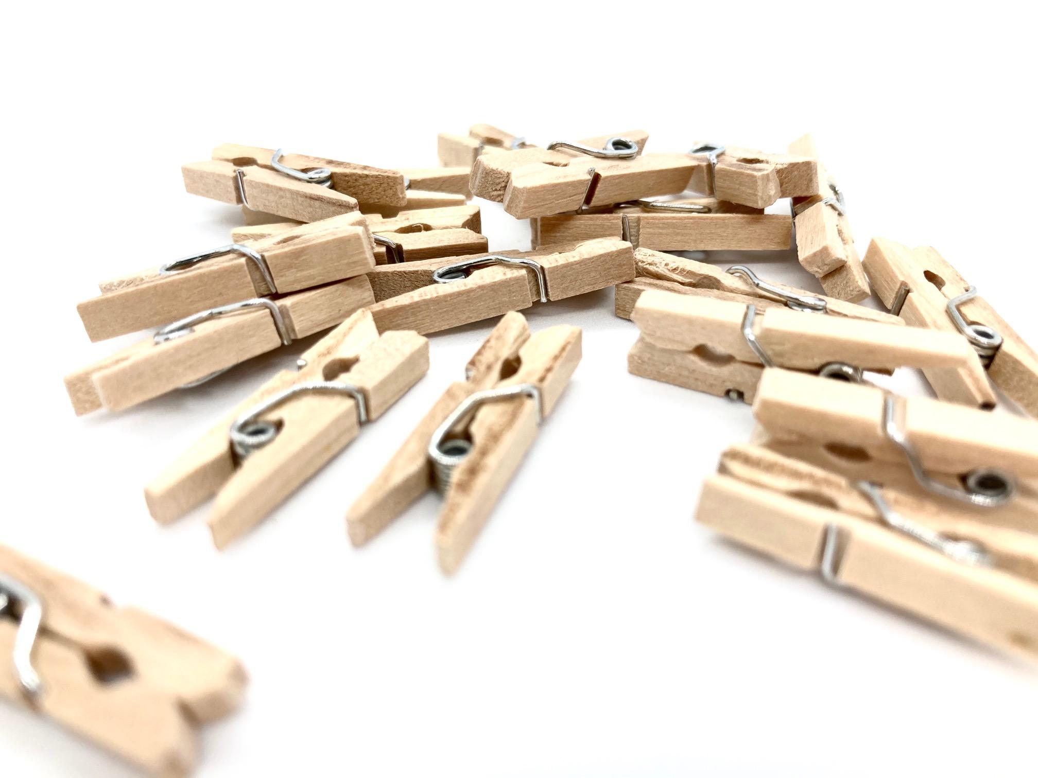 10 kleine Holzkluppen