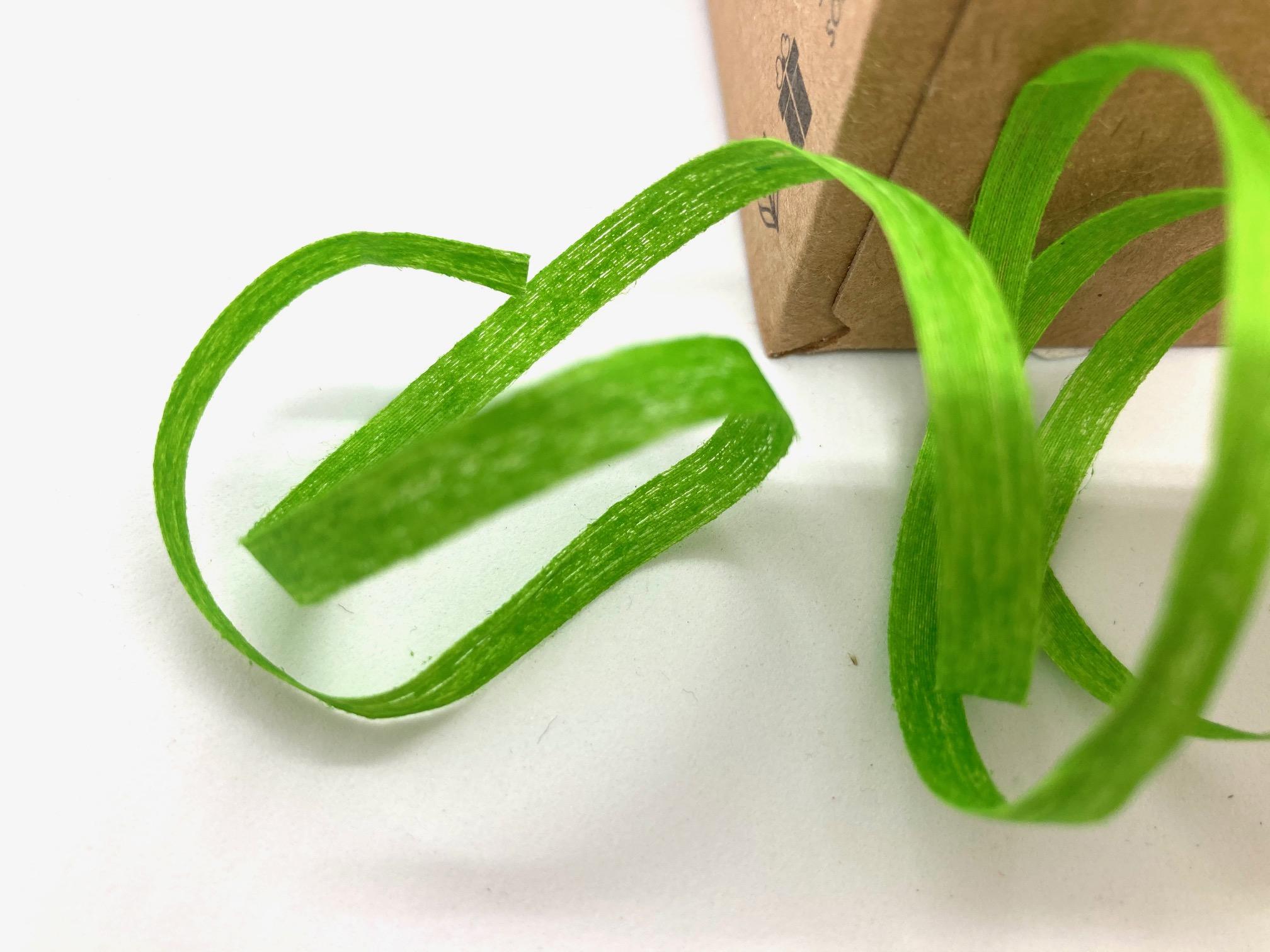 Ringelband Hellgrün, 100 Meter, 100% Baumwolle